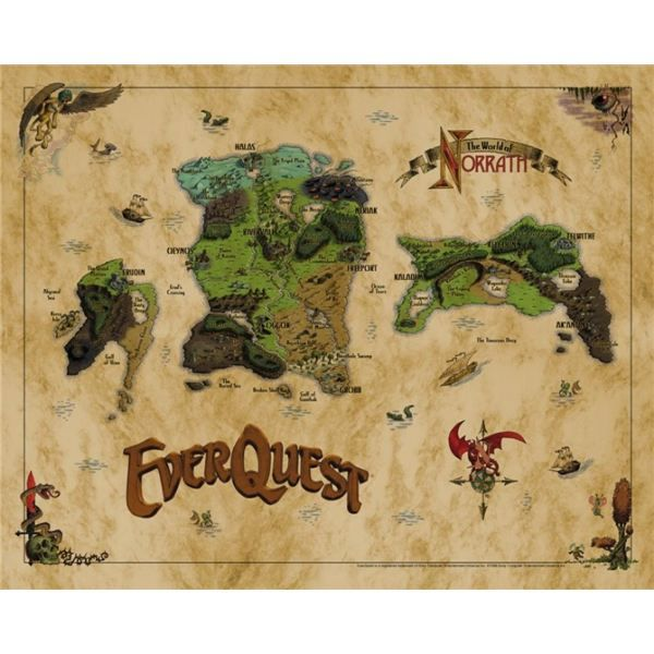 Everquest cloth map - get it framed for wall | Games | Old