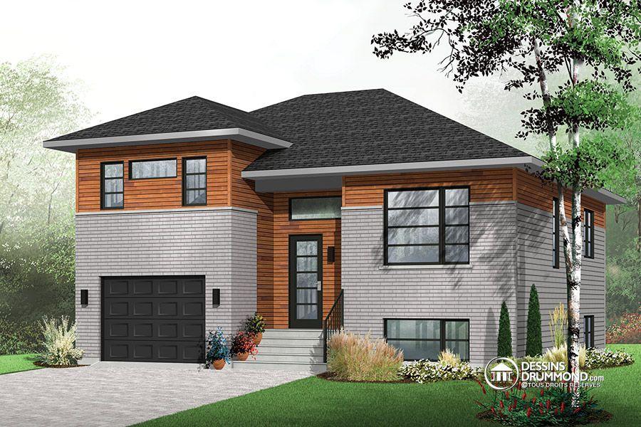 Détail du plan de Maison unifamiliale W3490 house Pinterest