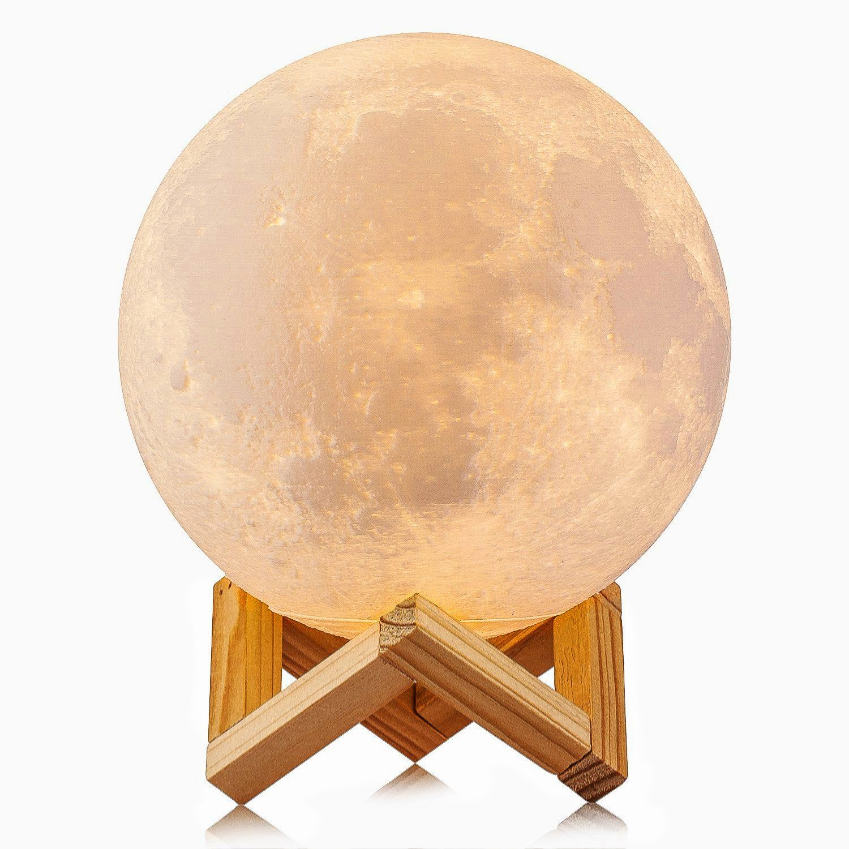 3D Printed Moon Lamp LED Baby Night Light Ellishang Table Desk Lamp