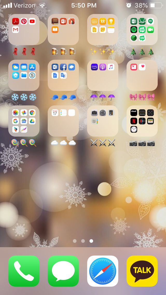color coded apps iphone aesthetic christmas edition