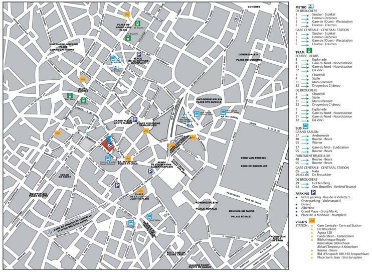 Brussels city center map | Maps | Pinterest | Brussels, City ...