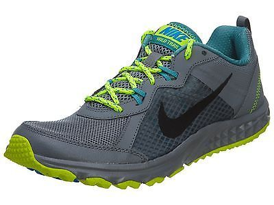 Nike Wild Trail Mens 642833-008 Grey Volt Trail Running Hiking Shoes Size 7.5