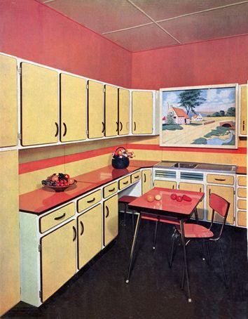 Cuisine En Formica De La Marque Socavex Fin Des Annees 1950 Cuisine Vintage Cuisine Formica Vintage