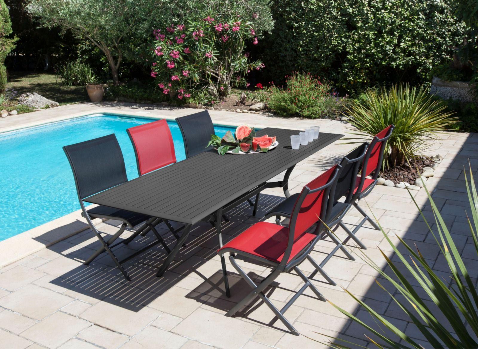 Table Séville 160/240 cm | Mobilier extérieur | Mobilier ...