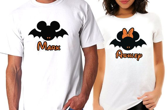personalized couples disney halloween tee shirts by patscustoms