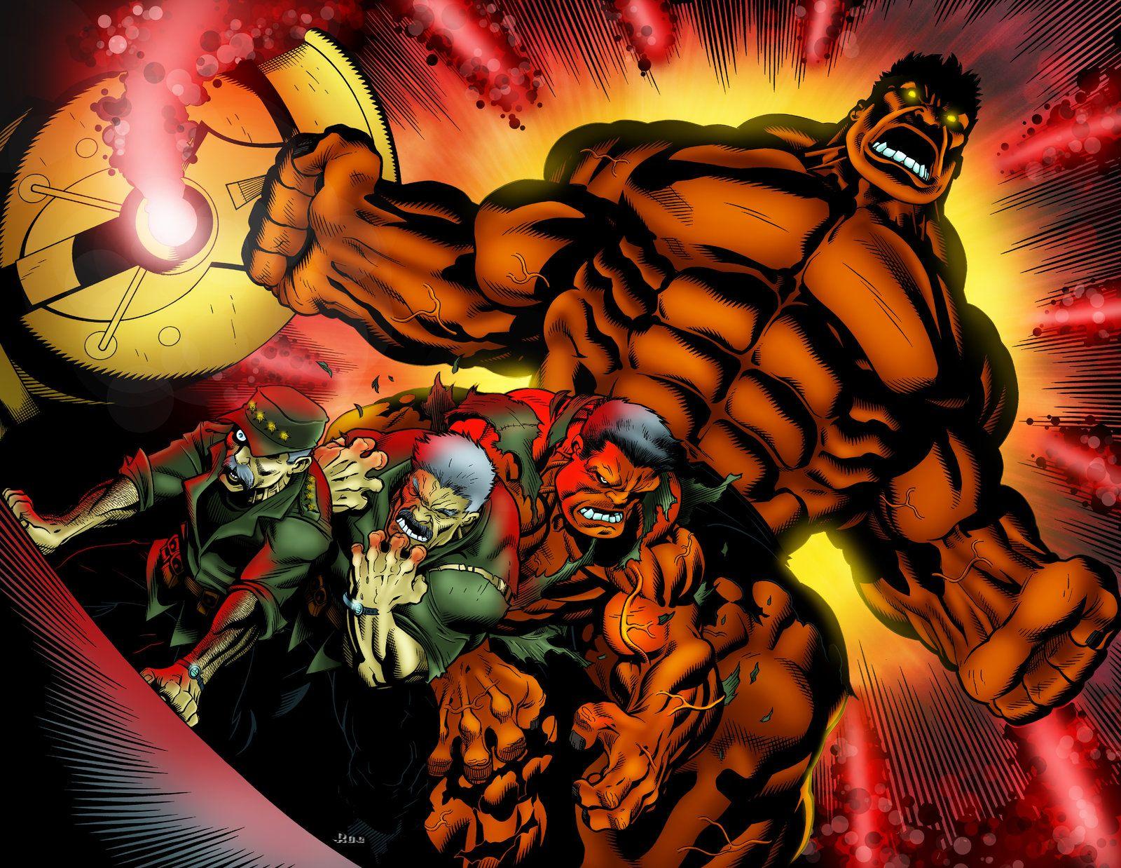 Red #Hulk #Fan #Art. (Red Hulk Transformation) By: Ed McGuinness.  ÅWESOMENESS!!!™ ÅÅÅ+ | Incrível hulk, Hulk