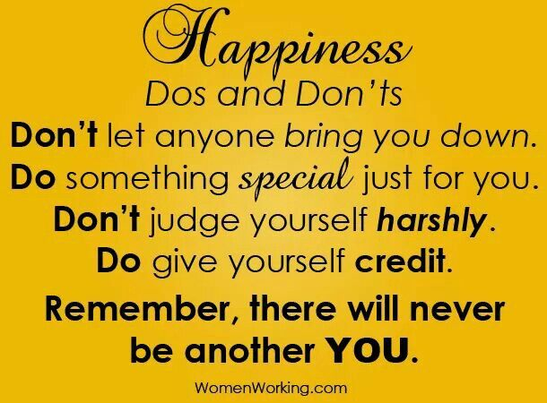 Happiness do's and dont's
