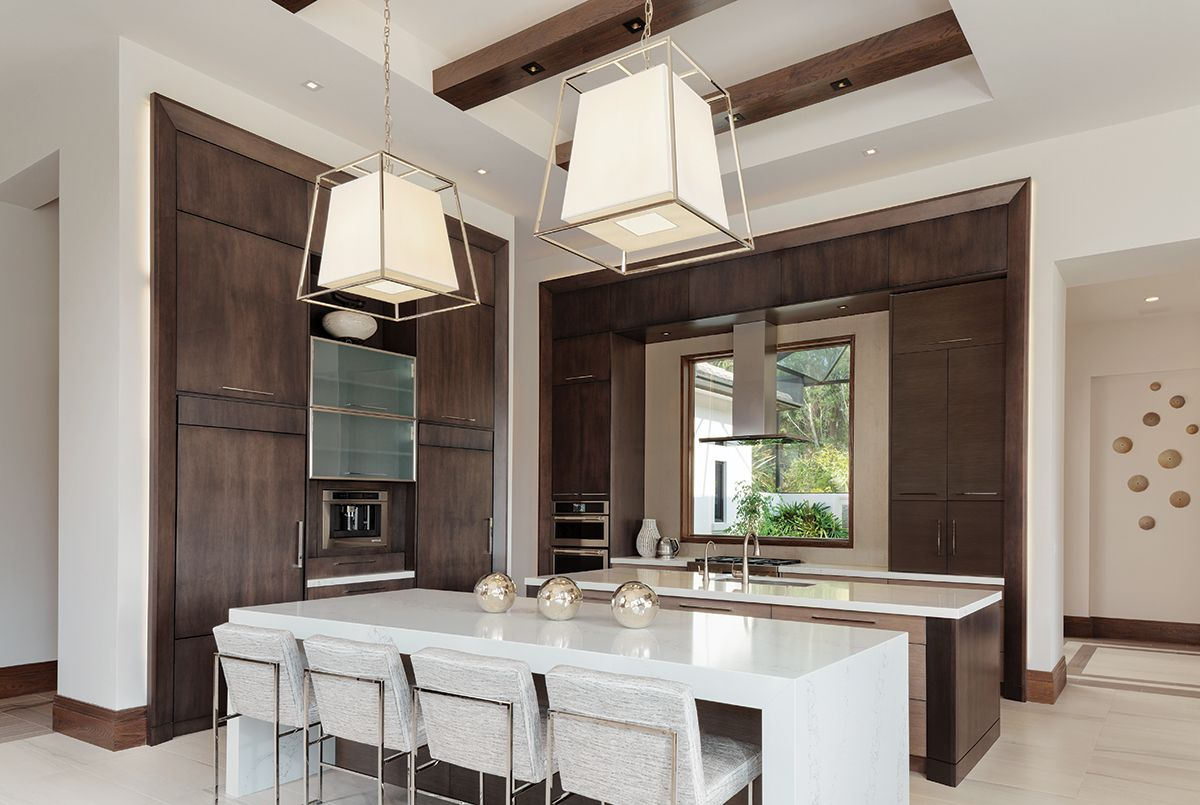 White Quartz From Umi Tops The Counters In The Kitchen Where Walnut Cabinetry Crafted By M Popular Kitchen Designs Outdoor Living Kitchen Best Kitchen Designs