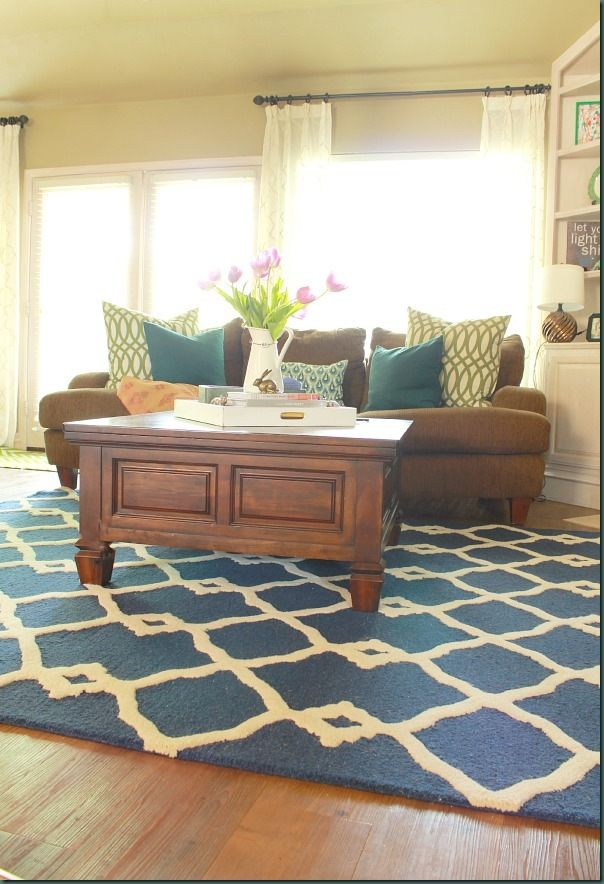 Tuscan Madra Trellis Rug In Navy From Rugs Usa