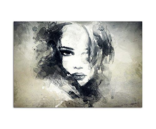 120x80cm wandbild handmalerei gesicht frau m dchen abstrakt leinwandbild auf kunst - Wandbilder malen motive ...