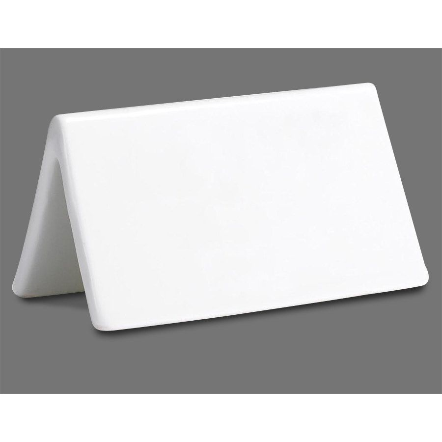 Double-Sided Tablecraft P16 3 1//2 x 2 Ceramic Dry Erase Table Tent Sign