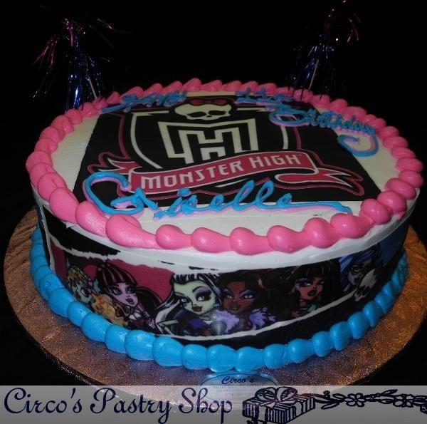 Surprising Walmart Bakery Monster High Cake Bakery Fondant Wedding Personalised Birthday Cards Veneteletsinfo