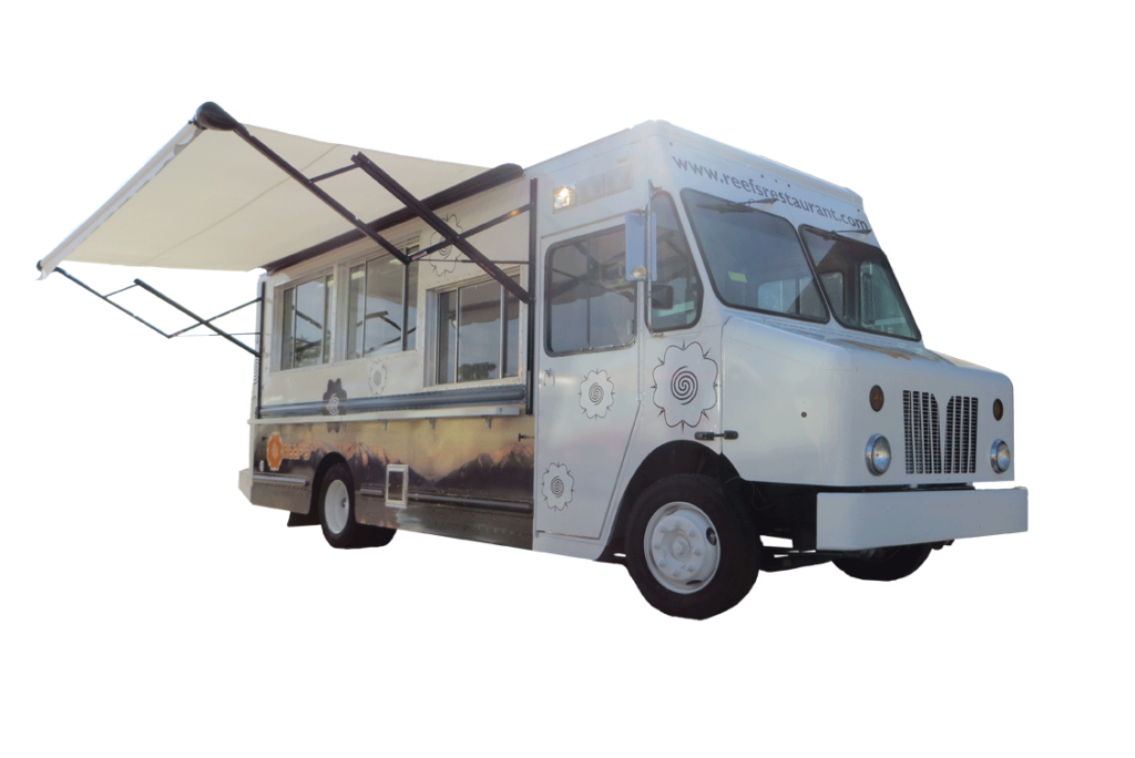 Reef's Restaurant Food Truck. This truck serves