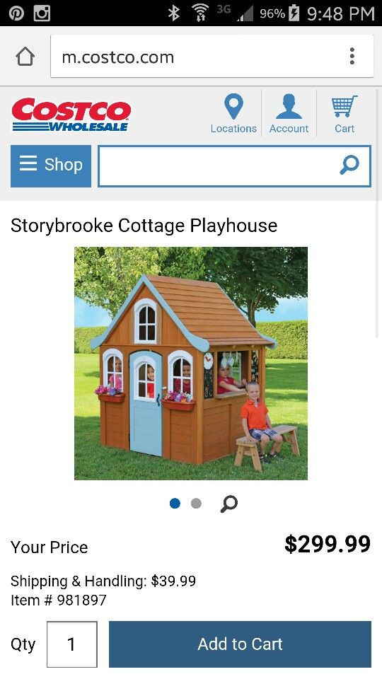 Storybook Cottage Playhouse Costco 300 Play Houses Outdoor Garden Furniture Storybook Cottage