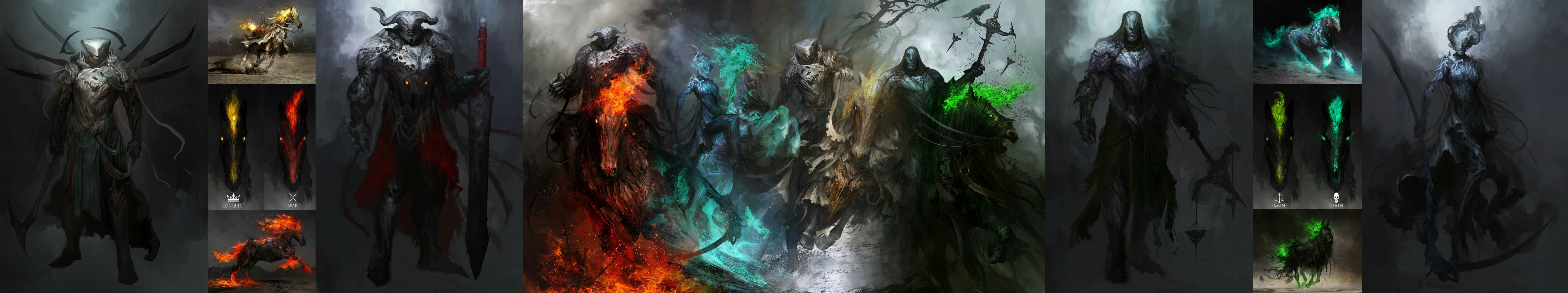 Horsemen of the Apocalypse [5760x1080] | wallpapers ...