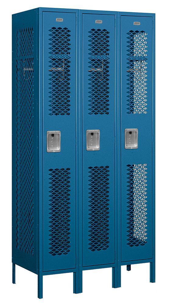 1 Tier 3 Wide Gym Locker Metal Lockers Locker Designs Lockers