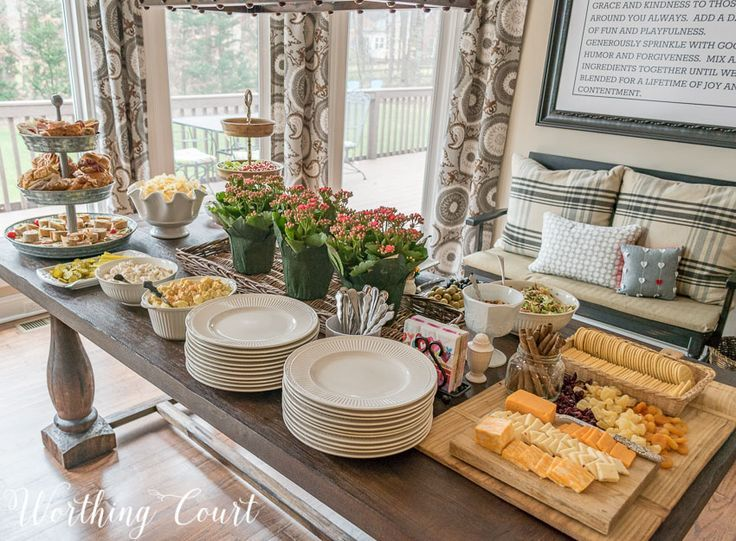 Image result for how to set up buffet table entertaining for Ensemble table buffet