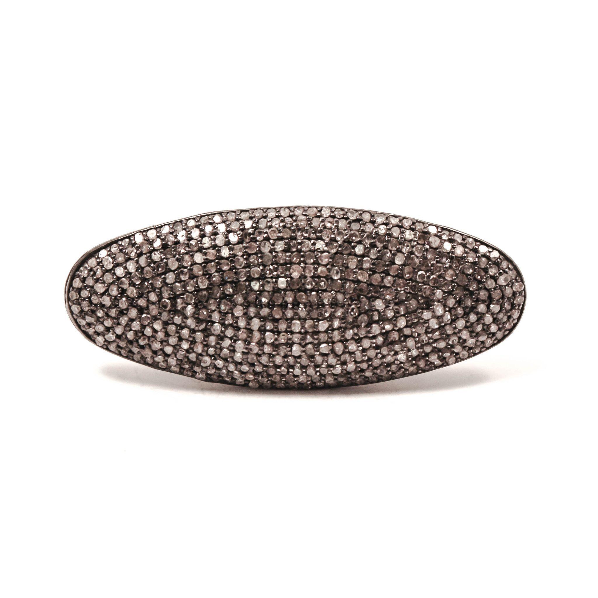 Alixandra Collections Horizontal Oval Diamond Ring