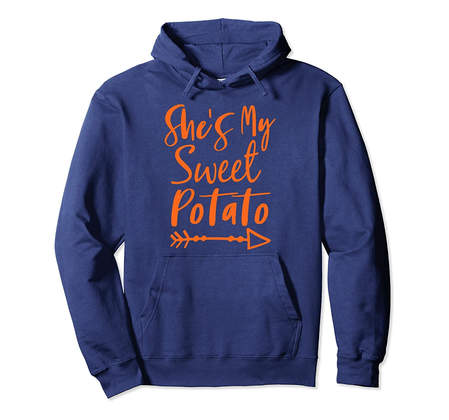 She's My Sweet Potato Halloween Thanksgiving Matching Couple Pullover Hoodie