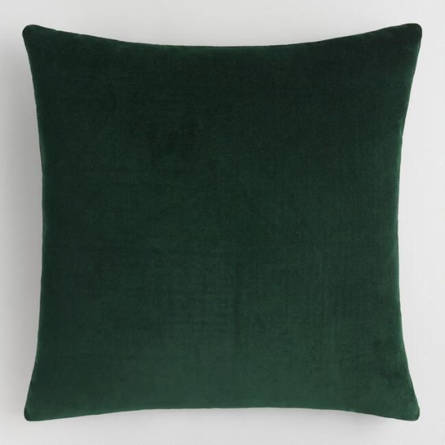 Crafted Of Cotton Velvet Our Forest Green Velvet Throw Pillow Is A Vibrant Accent For Any Room Green Velvet Pillow Green Throw Pillows Velvet Pillows