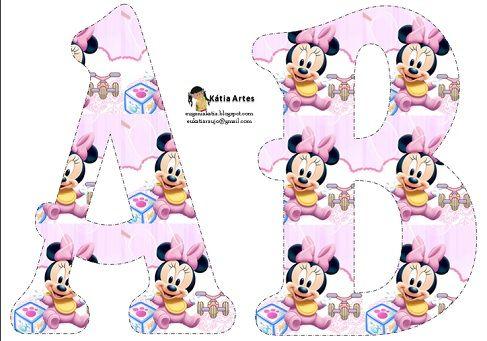 Letras abecedario de Minnie Baby  Proyectos que intentar  Pinterest