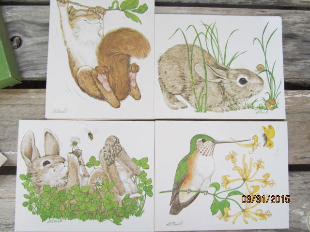 Vintage Current  Linda K Powell Suny & Silly Animal Note Cards New Old Stock Paper Ephemera by EvenTheKitchenSinkOH on Etsy