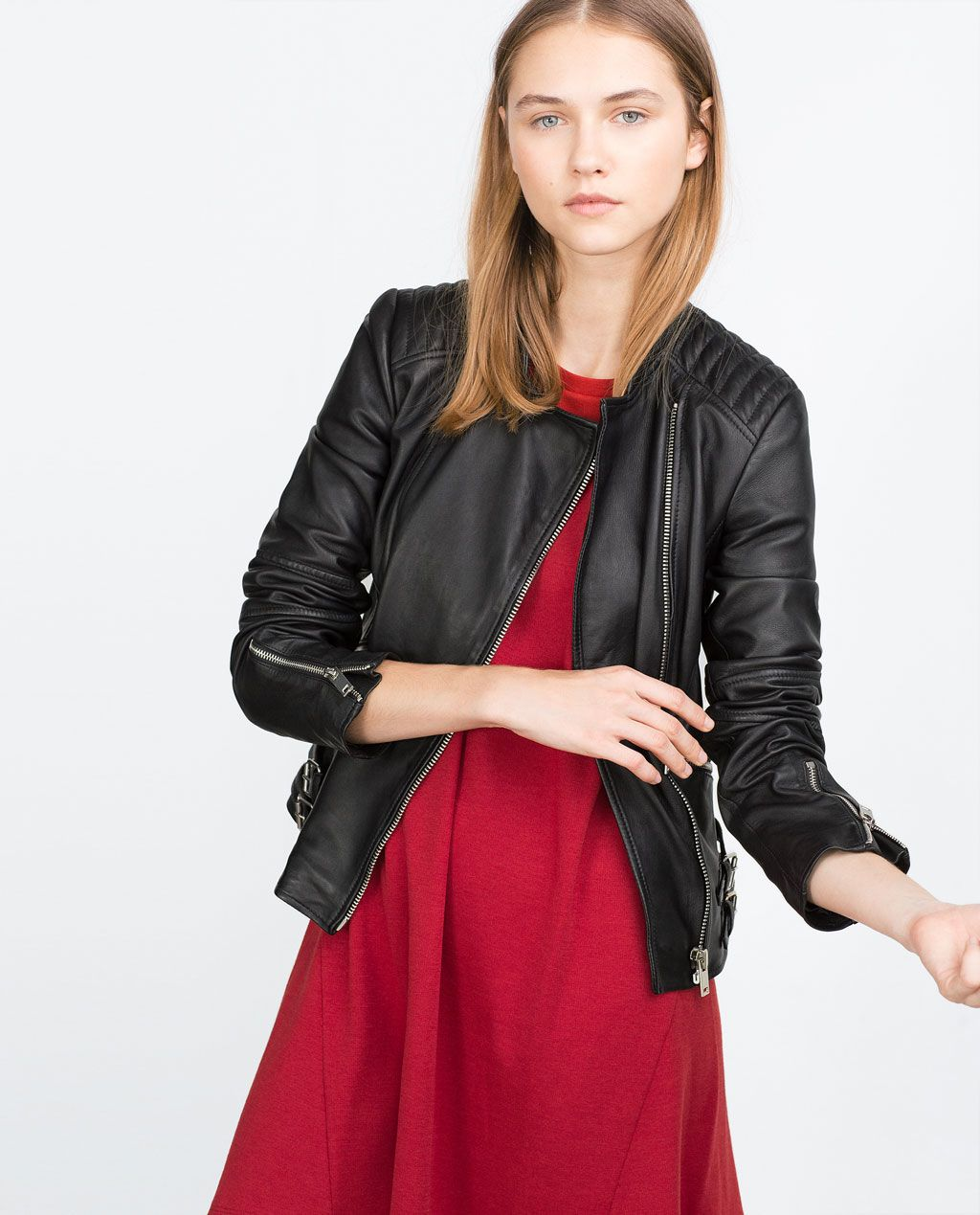 095375d8c2f7 $199 Image 4 of LEATHER JACKET from Zara Cheap Online Shopping, Jackets For  Women,