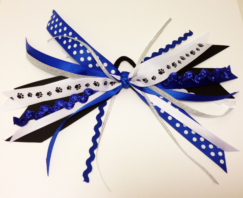 paw pony- cheer hair bow ribbon