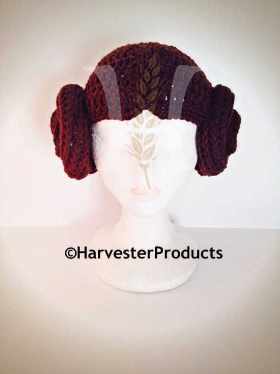 Space Princess Crochet Hat with buns by HarvesterProducts on Etsy ...