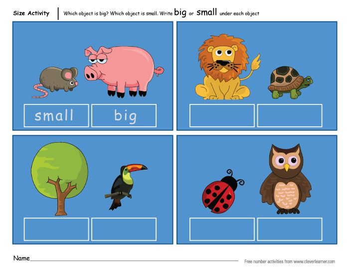 http://cleverlearner.com/number-activities/big-and-small-size ...