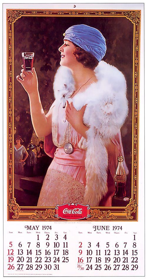 Vintage Calendar Girl Art : Pin by betty martin on coca cola pinterest retro