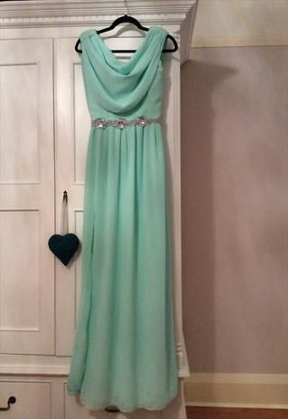 Exquisite+peppermint+green+size+8+ball/prom+dress