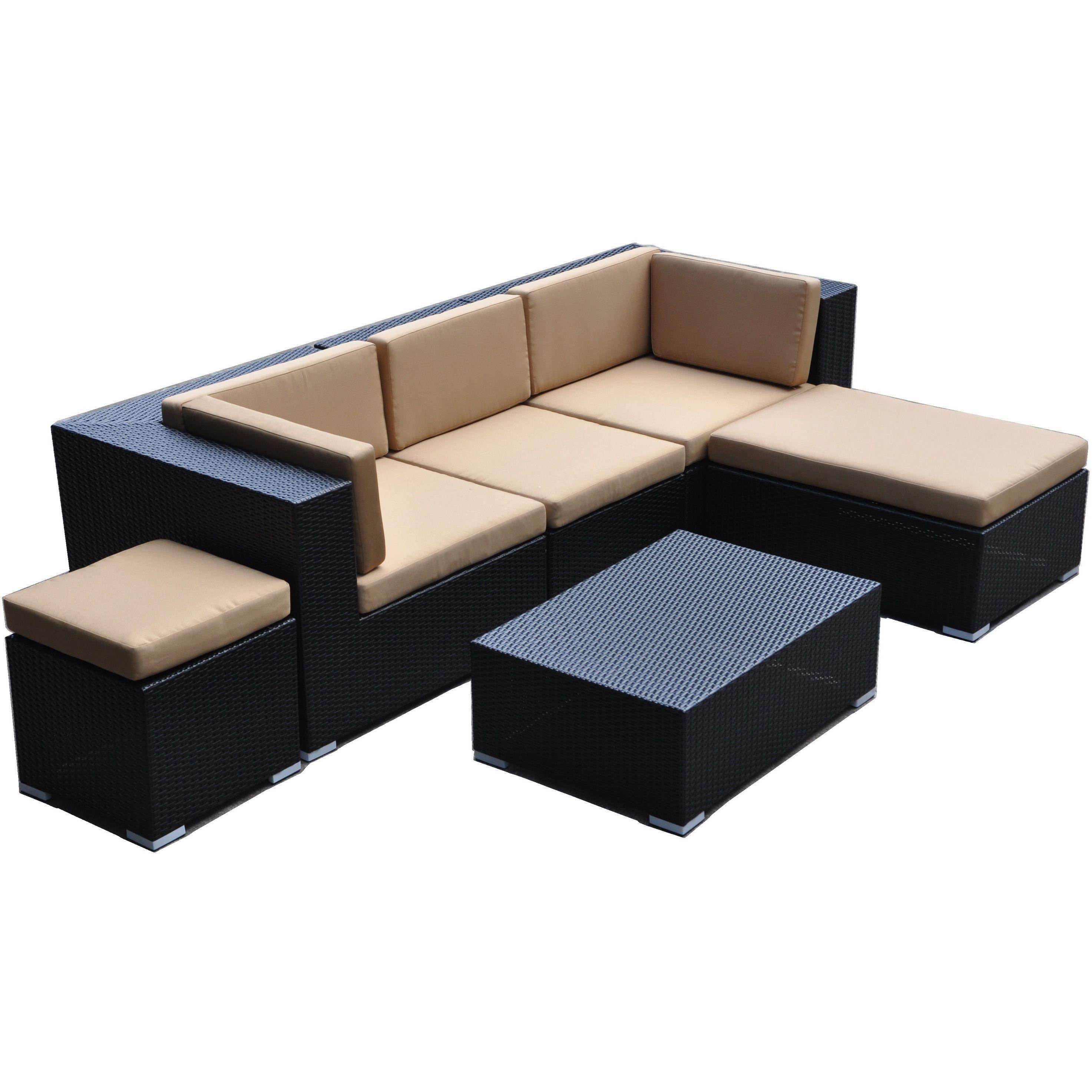 Astounding Dahlia 6 Piece Patio Sofa Set Overstock Shopping Big Creativecarmelina Interior Chair Design Creativecarmelinacom