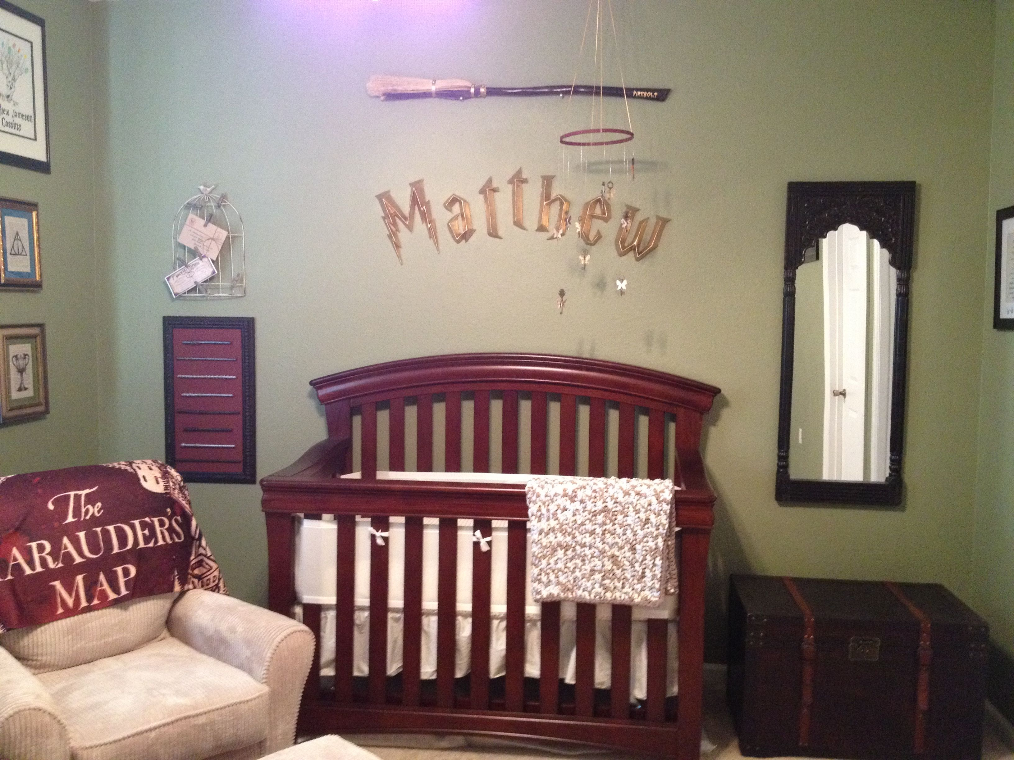 Custom Harry Potter Nursery that I made for my son Matthew  Harry