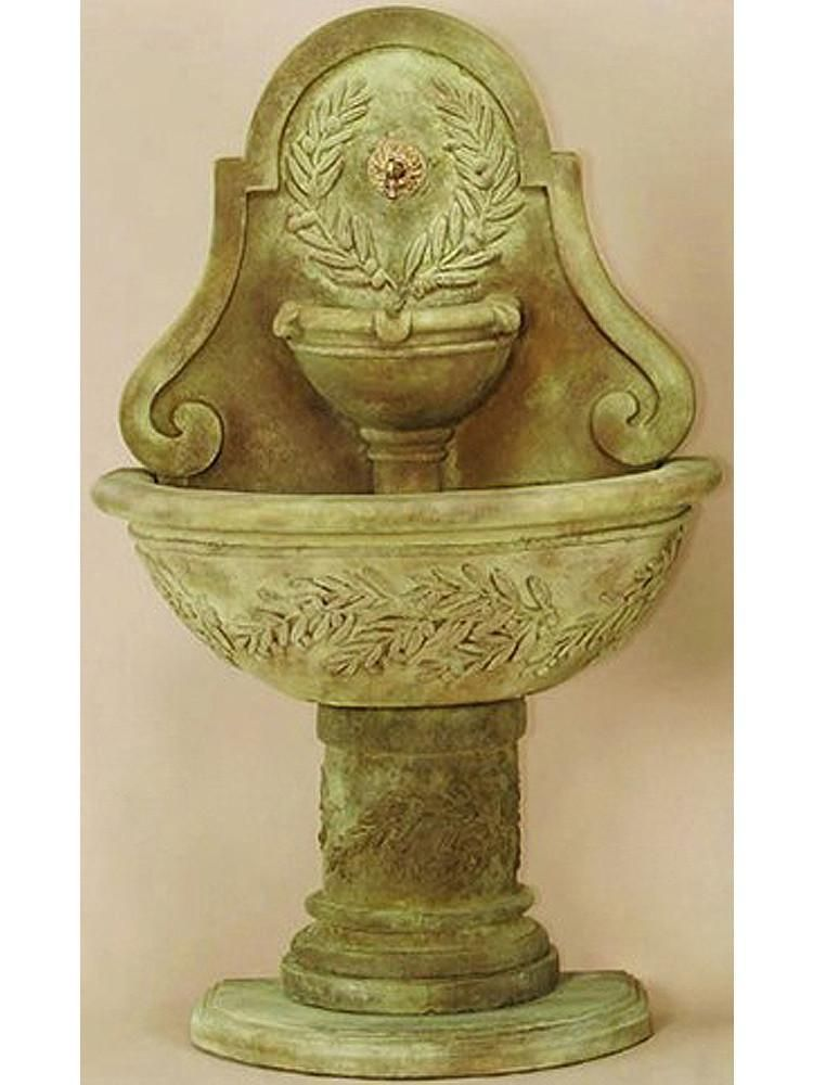 Oliva Wall Cast Stone Outdoor Water Fountain For Spout 400 x 300