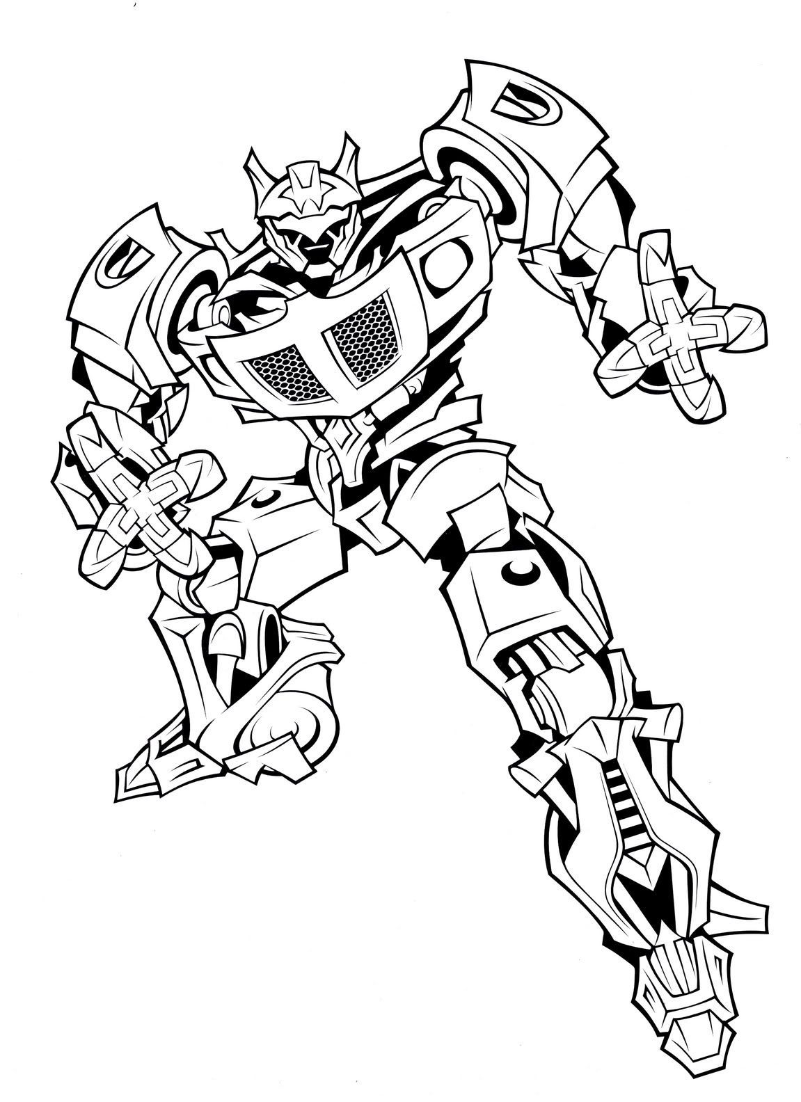 Cool Transformers Coloring Pages For Kids Printable Bee