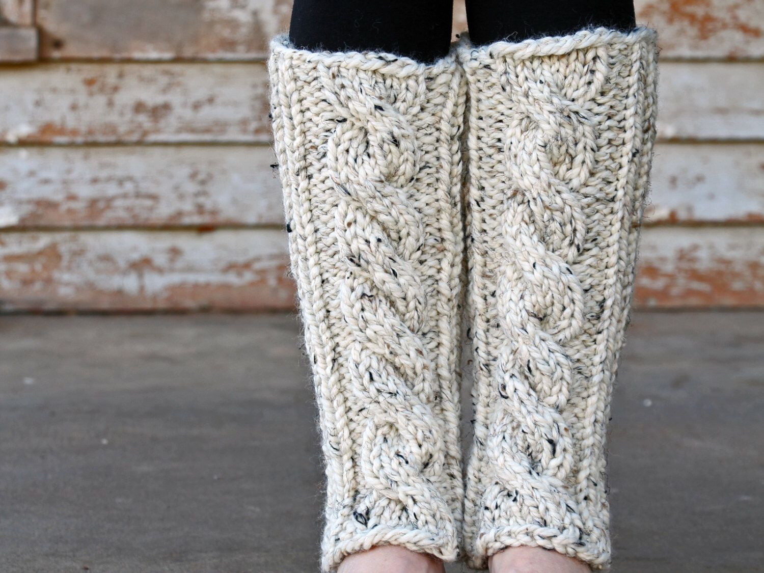 INVENTIVENESS - Cable Knit Leg Warmers Knitting PATTERN - a set of ...
