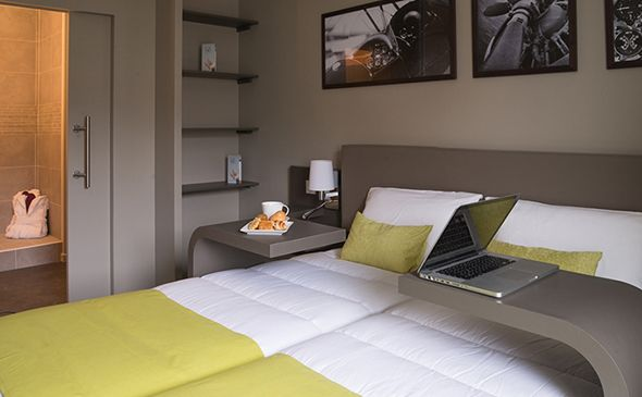 Park&Suites Elégance Le Bourget Blanc Mesnil*** - Chambre #lebourget #apparthotel #hotel  #chambre www.parkandsuites.com/fr/appart-hotel-le-bourget-blanc-mesnil