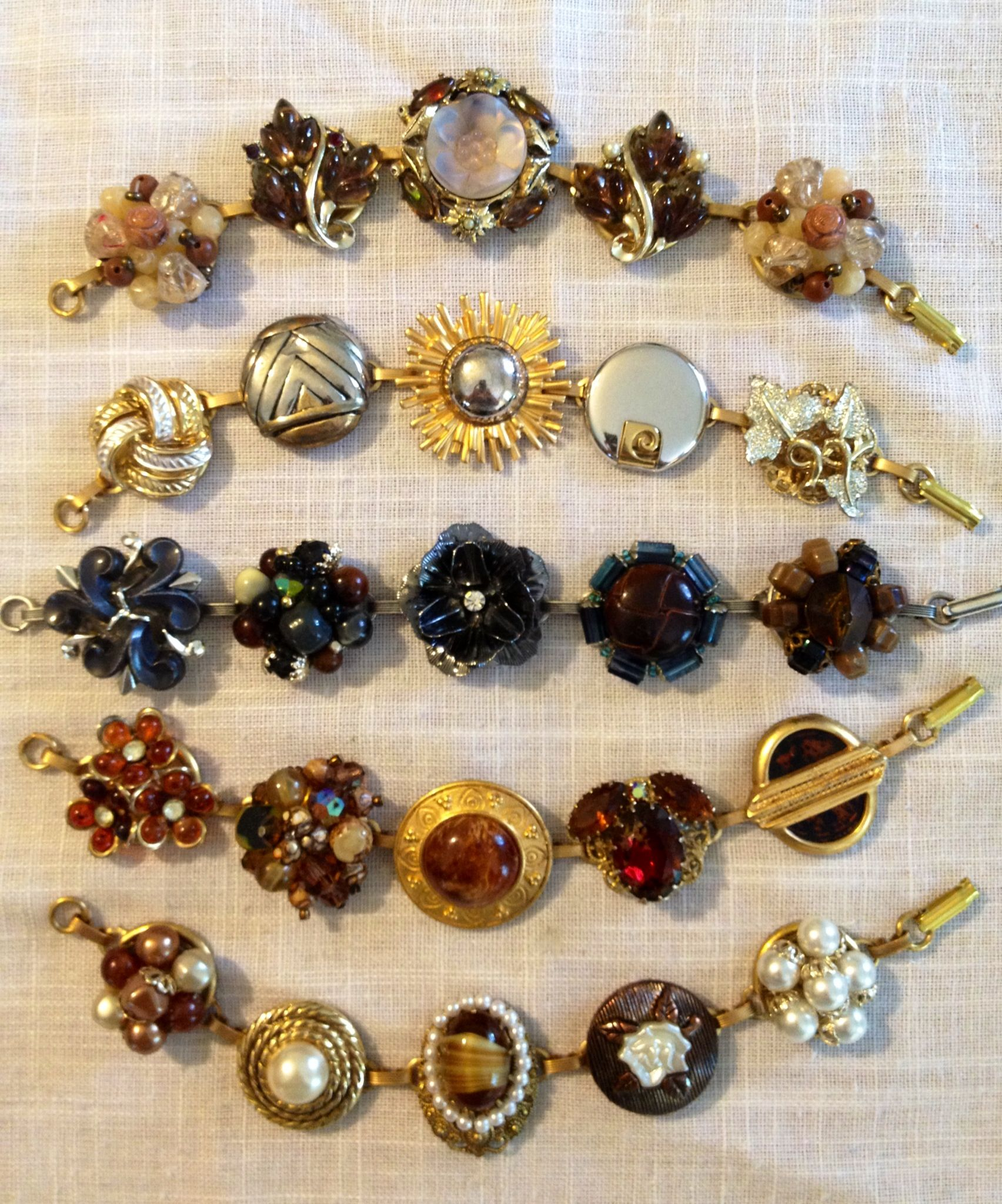Bracelets From Upcycled Vintage Jewelry By Janice Downs