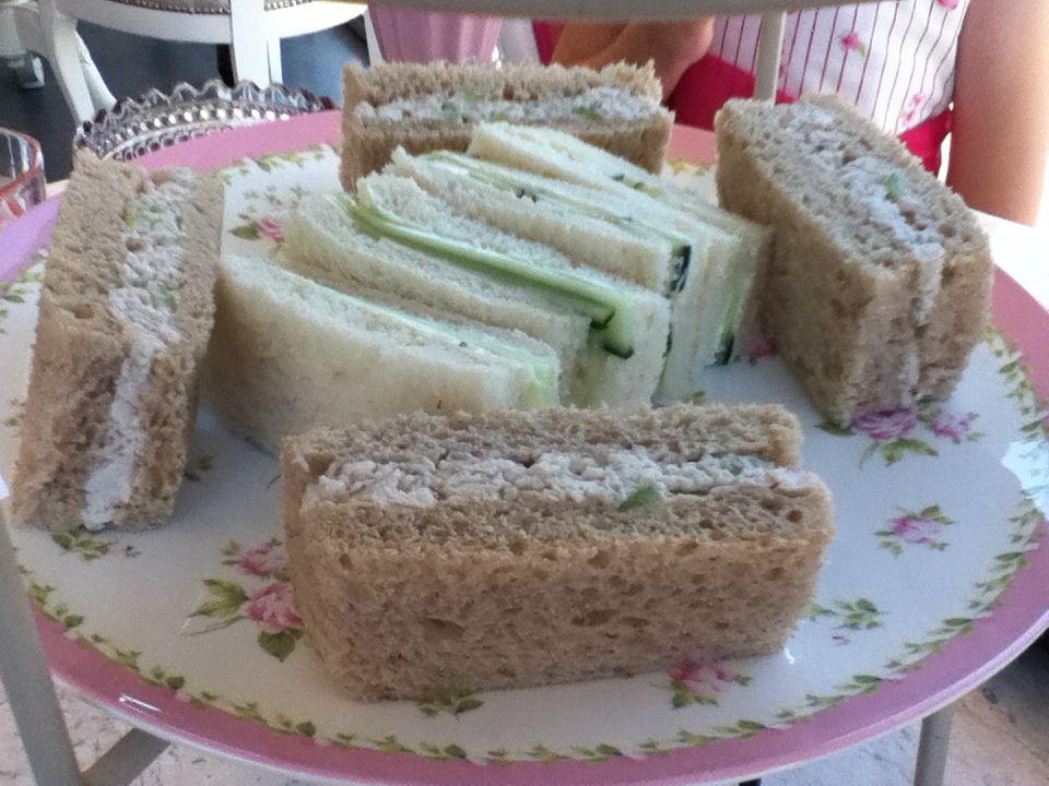 Chicken & cucumber sandwiches