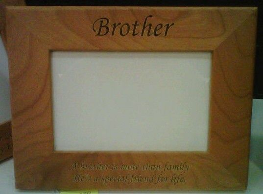 Triangle Custom Creations - Brother Laser Engraved Wood Photo Frame ...