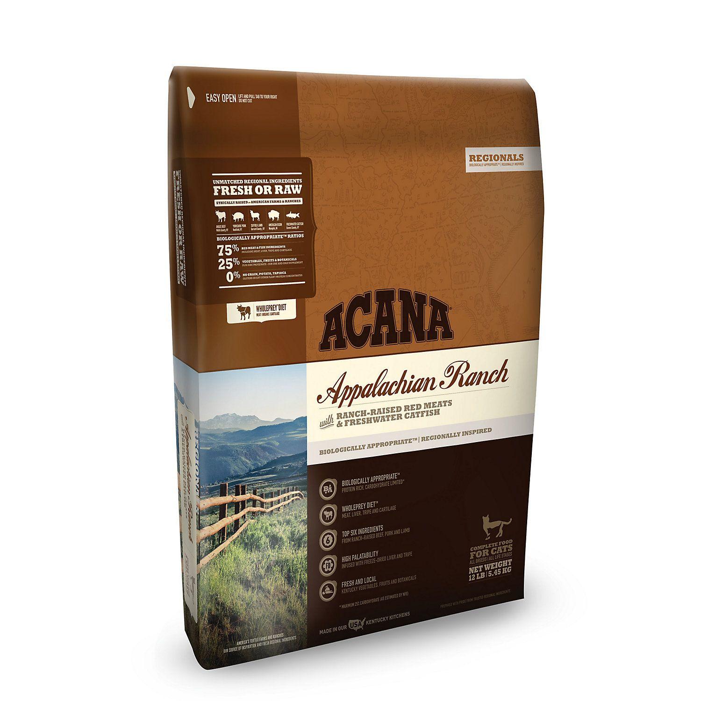 Acana Appalachian Ranch Dry Cat Food 12 Lbs Dry Dog Food Dry