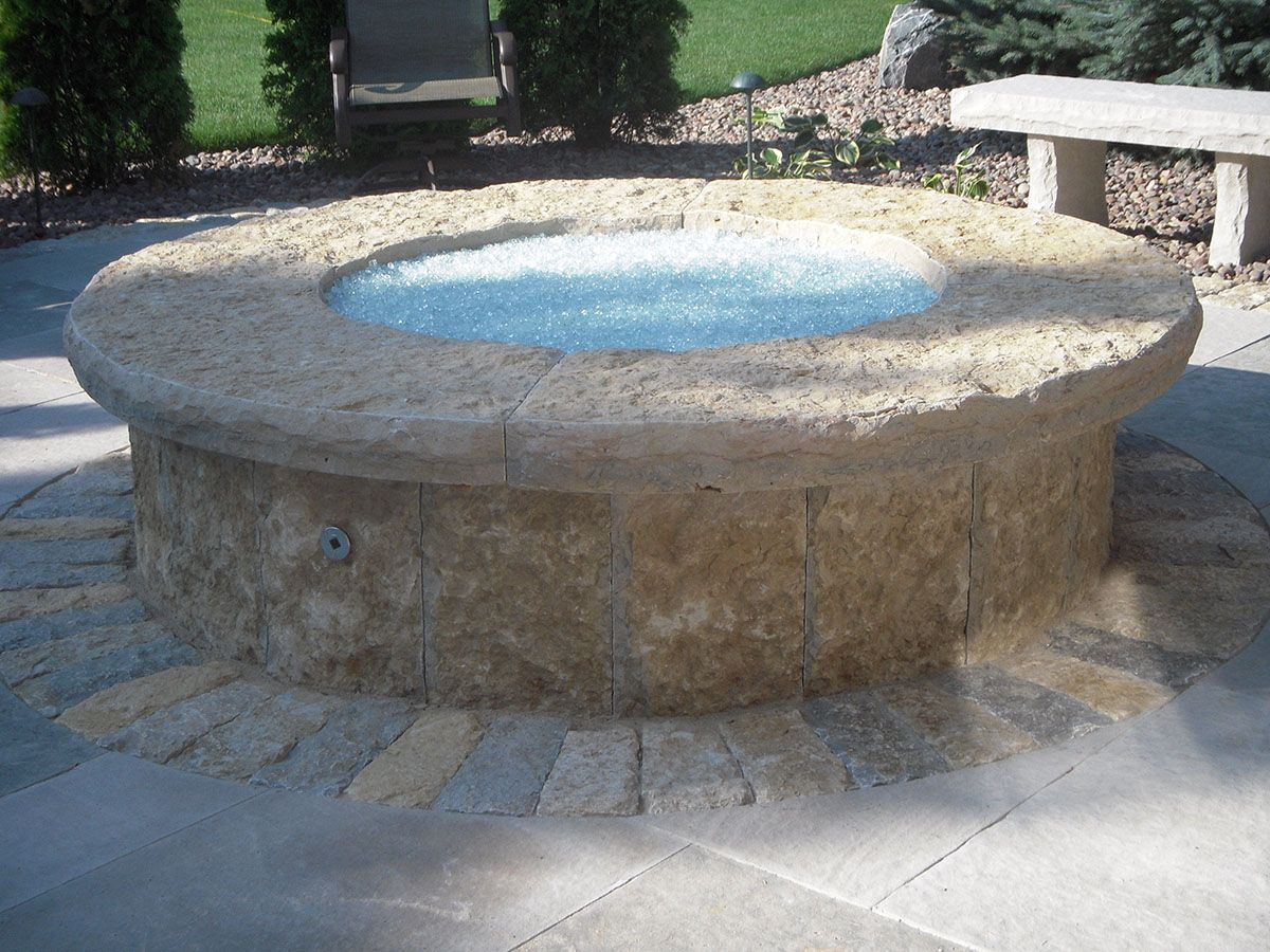 Natural stone gas fire pit kits or custom designs lemke stone