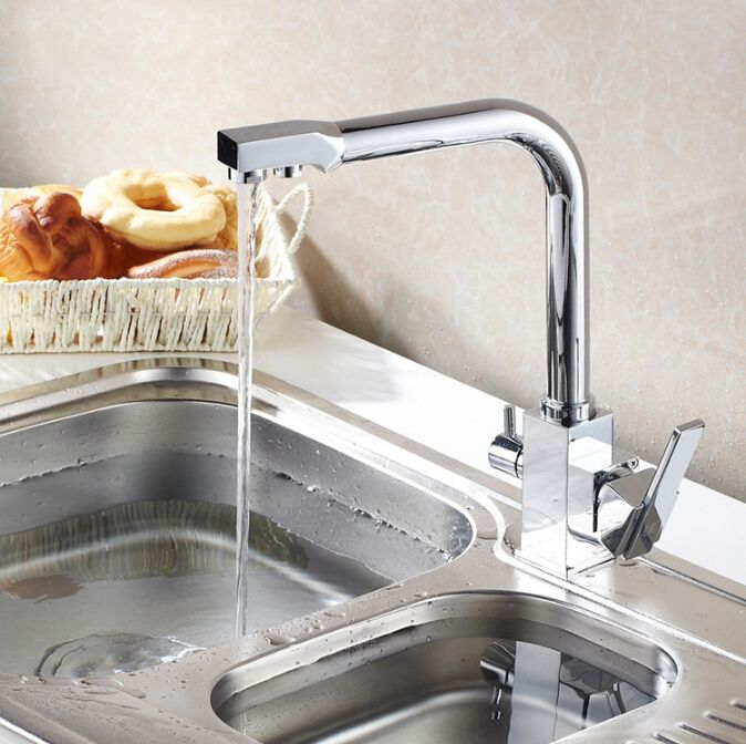Water Filter Kitchen Faucet 3 Way Kitchen Faucet Sink Mixer Water Kitchen  Dinking Faucet Three Way