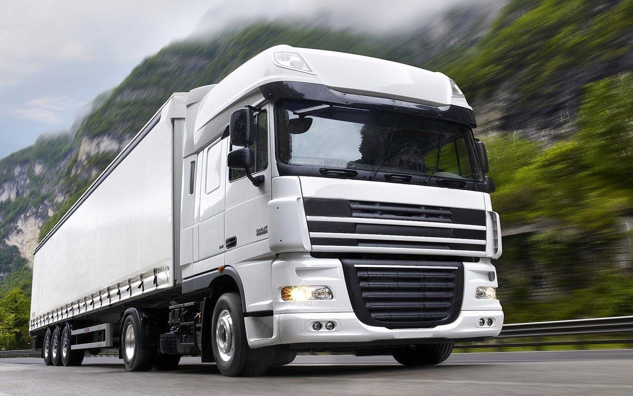 White Truck Wallpaper Spedition Daf