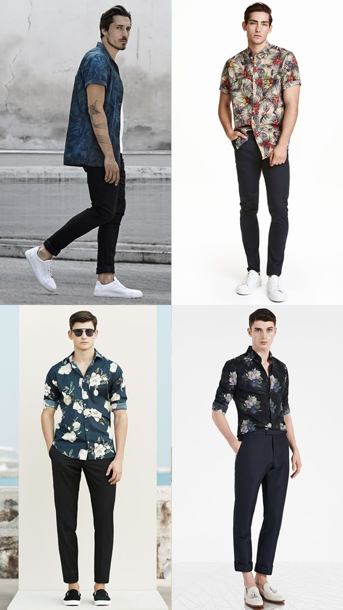 2ece0987061 Men s Spring Summer Statement Look Pull Off Guide  Floral Shirts Outfit  Inspiration Lookbook