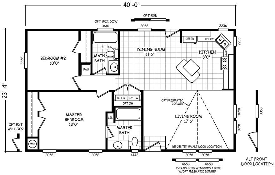 Buena Vista 24 X 40 933 sqft Mobile Home in 2020 Mobile