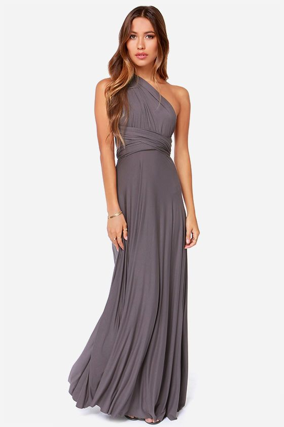 7901c3a1a4d26 Tricks of the Trade Dark Grey Maxi Dress | Magic and such | Dresses ...