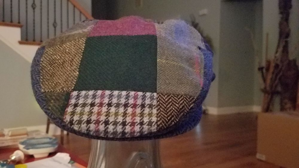 Details about New Patchwork Flat Cap Irish Tweed Made in Ireland ... 09f205cbfa80