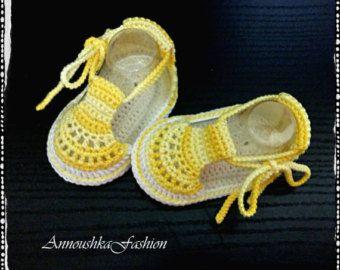 Crochet niños sandalias del verano Crochet sandalias azules y